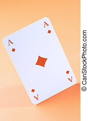 ace of diamonds in close up