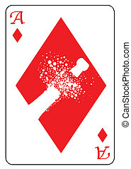 Ace of Diamonds - The ace of diamonds with the silghouette...