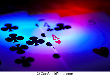 Ace of Hearts - Cards With Colored Lighting