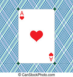 Ace of hearts for the Valentine's day design