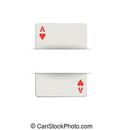 Ace of hearts icon, realistic style - Ace of hearts icon in...