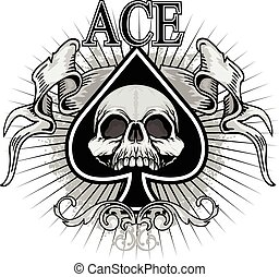 ace of spades - ace, spades, spade, background, poker