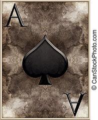 Ace of Spades Card Illustration
