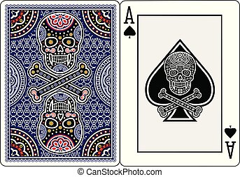 ace of spades - Holy Death, Day of the Dead, mexican sugar...