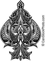 Ace of Spades Icon Shape Abstract Pattern