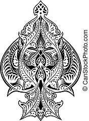 Ace of Spades Icon Shape Abstract Pattern - An abstract...
