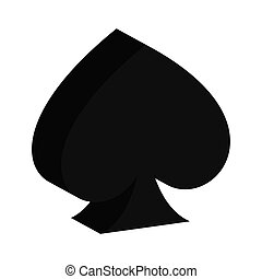 ace of spades isolated icon design, vector illustration...
