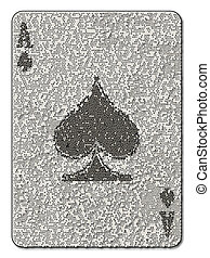 Ace of Spades Mosaic - The ace of spades in mosaic style...