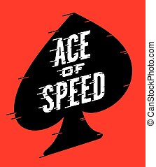 Ace of Speed Retro Vector Design