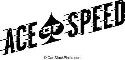 Ace of Speed Retro Vector Design