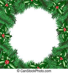 acebo, árbol, baya, navidad