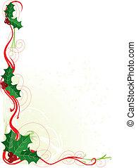 acebo, frontera, navidad