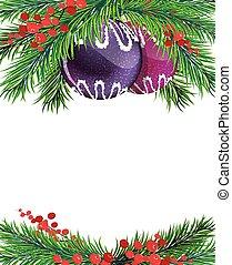 acebo, winterberry, árbol, decoraciones de navidad
