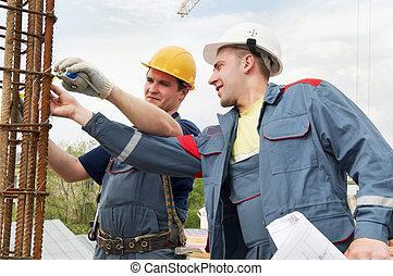 aceitação, de, trabalho, engenheiro, aceitar, construção, trabalhos
