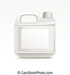 aceite, abstergent, limpiador, aislado, detergente, bote, jerrycan, galoon