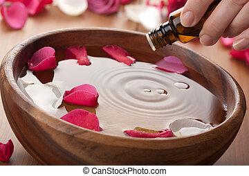 aceite de aromatherapy, esencial