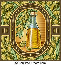 aceite de oliva, retro