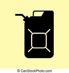 aceite, jerrycan, señal