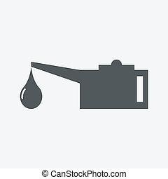 aceite, lubricator, icono
