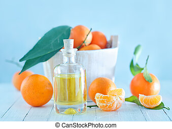 aceite, mandarina, esencial