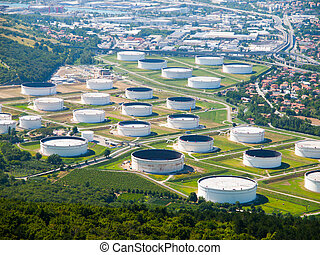 aceite, tanques