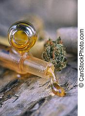 aceite, variado, extractions, cbd, resina, cannabis, vivo,...