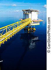 aceite y gas, plataforma