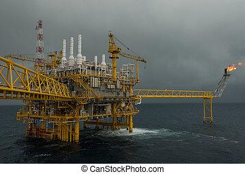 aceite y gas, transferencia, plataformas