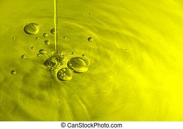 aceituna, burbujas, aceite