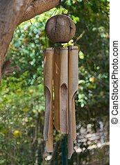 aceituna, carillones, árbol de bambú, viento