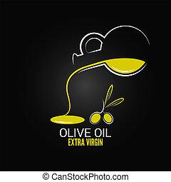 aceituna, menú, aceite, diseño, plano de fondo