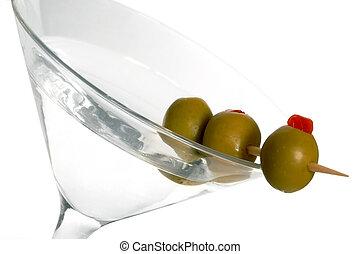 aceituna, tres, martini