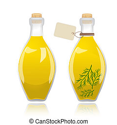 aceituna, vidrio, aceite, botella