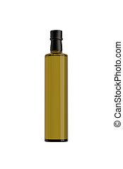 aceituna, virgen, aceite, botella