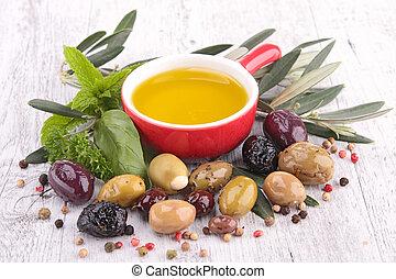 aceitunas, aceite de cocina