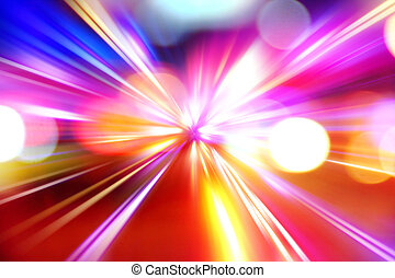 aceleração, abstratos, movimento, noturna, velocidade, ...