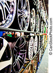 acero, aleación, discos, coche