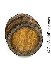 acero, barril, madera, anillos, blanco