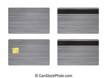 acero, blanco, tarjeta, plano de fondo