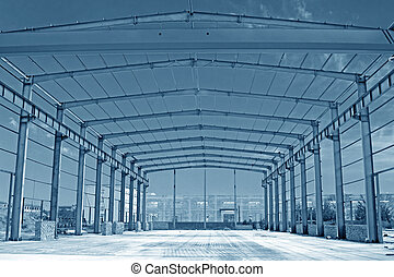 acero, estructura, armazón