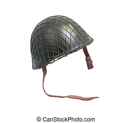 acero, militar, casco