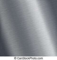 acero, placa, cepillado, reflexiones, textura