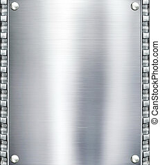 acero, placa, metal, fondo.