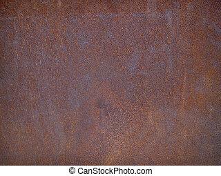 acero, placa, oxidado