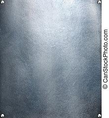 acero, placa, res, metal, textura, fondo., hola