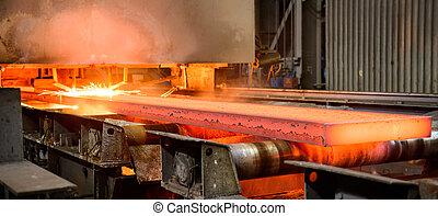 acero, producción, integrado, ciclo, trabaja