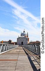 acero, puente, venecia italia, votive, redentor, madera,...