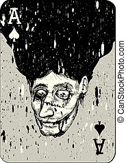 Aces, Joker And Playing Card Backs - Playing cards. All four...