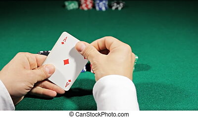 aces of poker all in