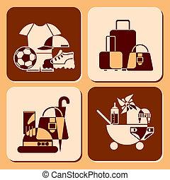 acessórios, ícones